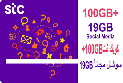STC 100GB+19GB Social 1Month